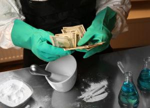 Chemist working in drug laboratory